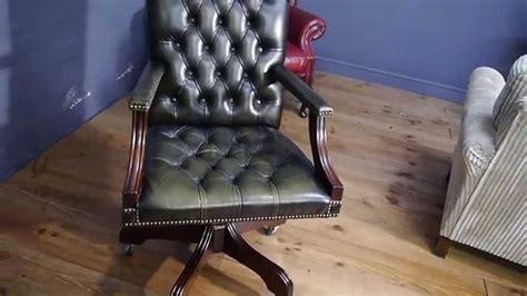 green desk chair chesterfield captains gainsborough desk chair green
