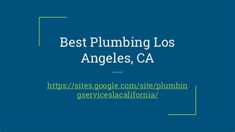 Plumbing In Los Angeles by Best Plumbing Los Angeles Ca