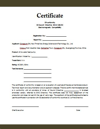 Letter Of Conformance Template by Conformity Certificate Template Microsoft Word Templates