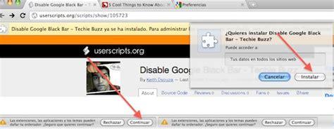quitar barra superior firefox ubuntu como quitar la nueva barra negra superior de google