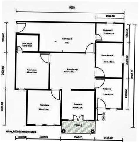 pilihan denah rumah 2 kamar dengan desain terbaik fimell