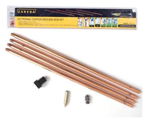 sectional ground rod com zareba grsc8 z 8 inch sectional copper ground
