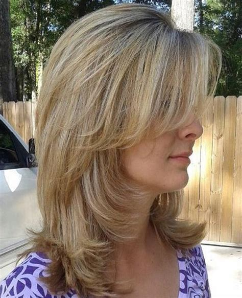 medium hairstyles layered with bangs long layered hairstyles 2016 with blunt bangs