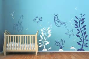 Contemporary Wall Stickers Under The Sea Decals Contemporary Wall Decals By