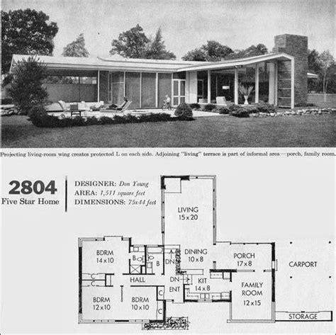 house plans california c 1960 mid century california modern house plan better homes mid century homes pinterest