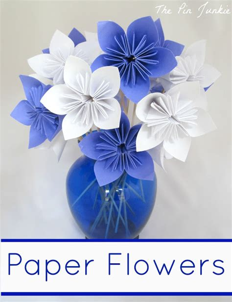 Origami Flower Paper - the pin junkie paper flower tutorial