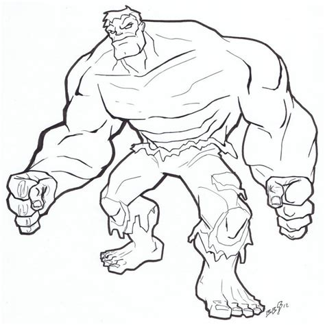hulk coloring pages easy coloring pages of incredible hulk thestout incredible