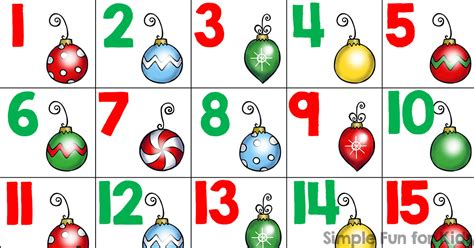 printable numbers 1 24 christmas countdown day 6 christmas ornament number cards