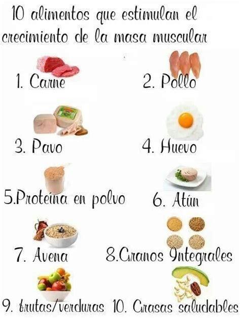 alimentos  estimulan el crecimiento de la  muscular saudeter