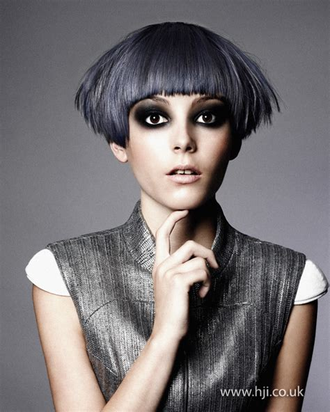hairstyles for grey hair uk 2012 slate grey fringe short womens hairstyle hji