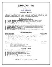 receptionist with billing resume sle