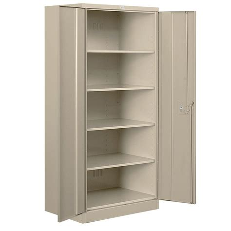 Metal Storage Cabinet Akadahome 5 Shelf Laminate Storage Cabinet In White St103211a The Home Depot