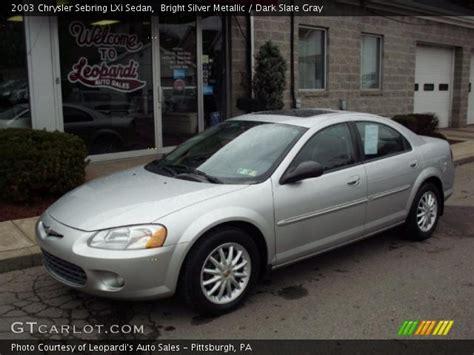 2003 chrysler sebring lxi sedan bright silver metallic 2003 chrysler sebring lxi sedan
