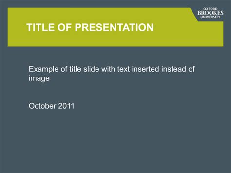 best powerpoint templates for university presentation powerpoint oxford brookes university