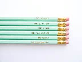 Pottery Barn Business Sales Gentle Reminders Pencils Mint And Gold Set Of 6 Stocking
