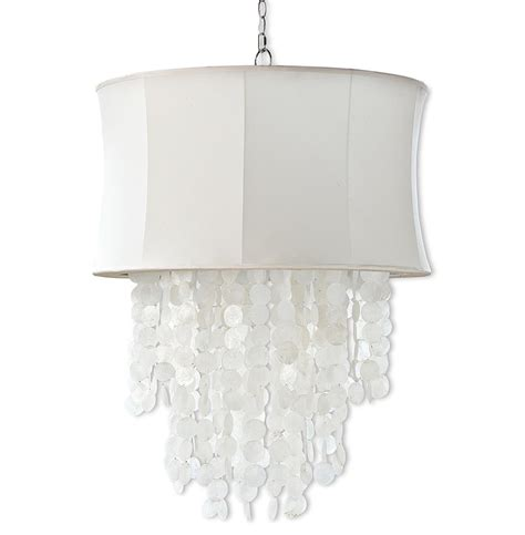 Queensland Coastal Beach White Shell Ivory Chandelier White Shell Chandelier