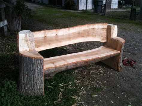 bench log this bench was made from and urban poplar tree all the edges are rounded and it will