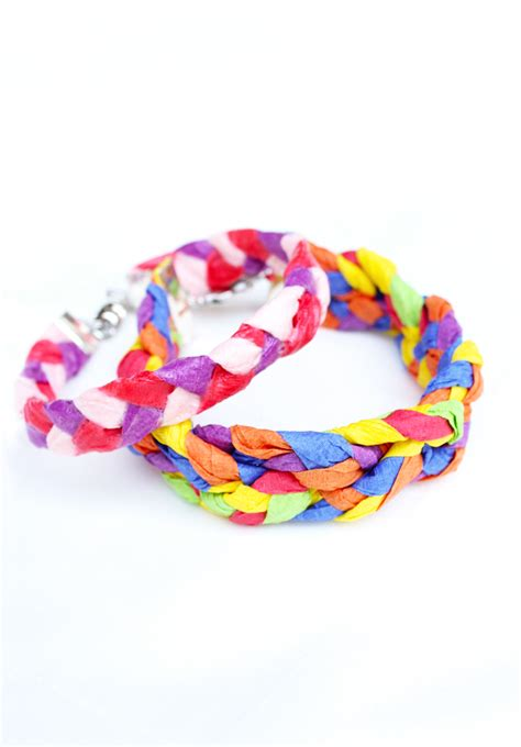 How To Make Paper Bracelets - design for crepe paper bracelets babble dabble do