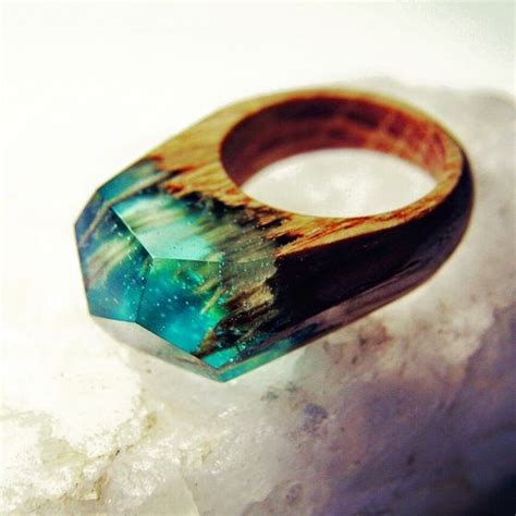 Handmade Resin Jewellery - handmade wood ring jewelry resin oak i need these or