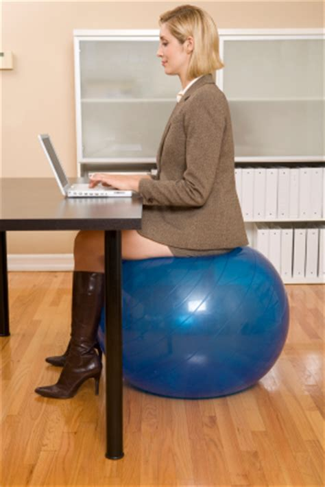 sitting on exercise ball at desk tips to improve your health at work dr david geier