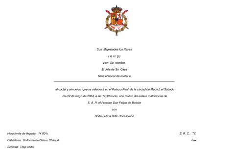 preguntas entrevista boda civil invitaci 243 n casa real c 243 ctel almuerzo protocolo etiqueta