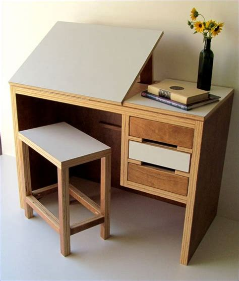 matching desk and dresser modern drawing desk with matching stool by theoffwhitedog