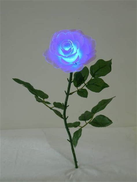 single cheap rose flower lighted artificial flower silk