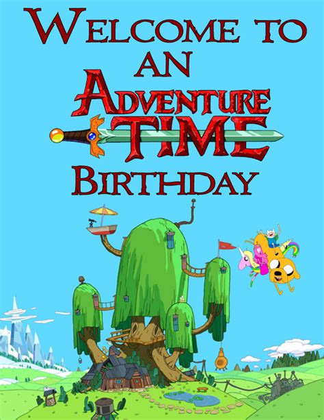 adventure time printable party decorations adventure time free printable party clickable party