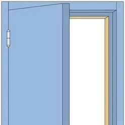 peindre une porte avec deux couleurs