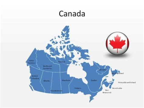 free us canada vector map high quality royalty free canada powerpoint map