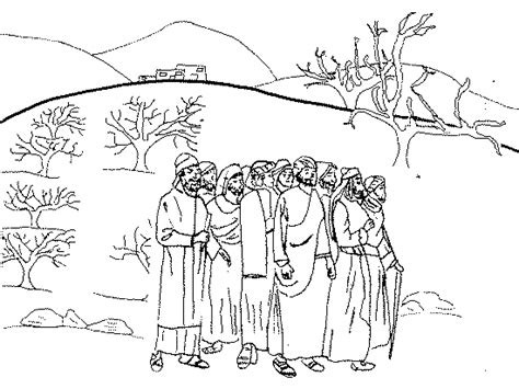 free coloring pages of 12 bible spies