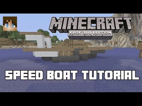 how to make a speed boat in minecraft pocket edition how to build a speed boat in minecraft youtube