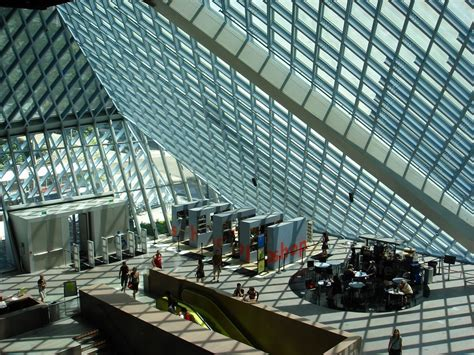Seattle Library Interior by Book Mountain Library Someone Has Built It Before