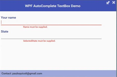 xaml refresh layout github quicoli wpf autocomplete textbox an autocomplete