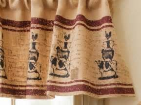 Primitive Country Kitchen Curtains Burlap Farm Animals Valance Primitive Country Curtains Animals Burlap And Valances