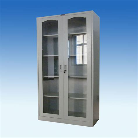 Metal Cabinet With Glass Doors   Manicinthecity