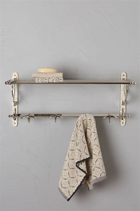 train rack bathroom shelf anthropologie s august arrivals hardware topista