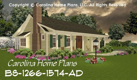 One Floor Open Concept House Plans Small Expandable House Plan Bs 1266 1574 Ad Sq Ft Small
