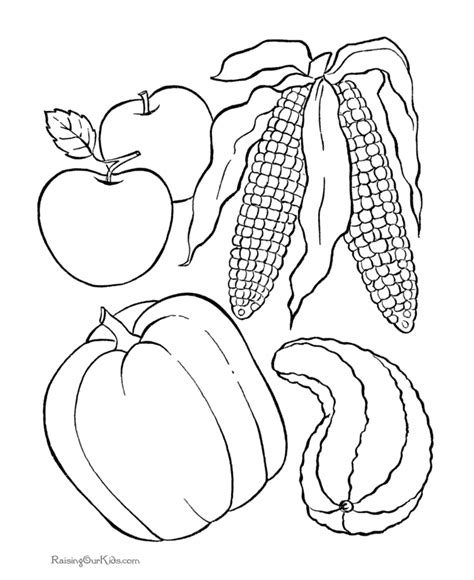 free printable thanksgiving food coloring pages 004 kids printable thanksgiving coloring pages 005