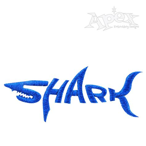 Embroidery Pattern Logo | shark logo embroidery design