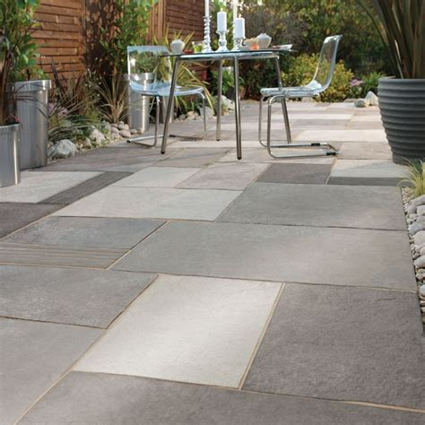 Sted Concrete Backyard Ideas by Garden Paving Paving Ideas And Flag On