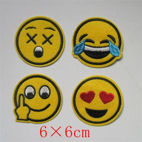 Patch Iron Patch Smile by 4 Pcs Patch Smiley Iron On