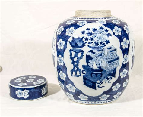 blue ginger jars pair of chinese xianfeng blue and white ginger jars at 1stdibs