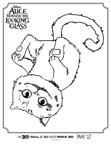 coloring pages of cheshire cat alice through the looking glass activities for kids the