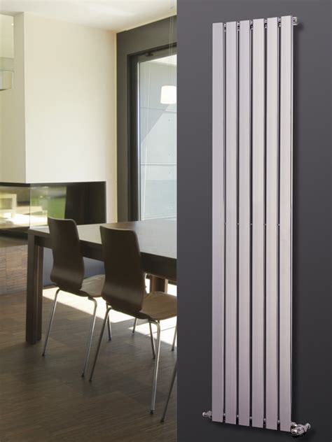 designer radiators for kitchens agadon p1 chrome vertical designer radiator 1800x270mm ebay