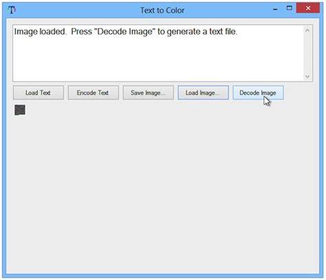 decode testo text to color generare immagini da un testo