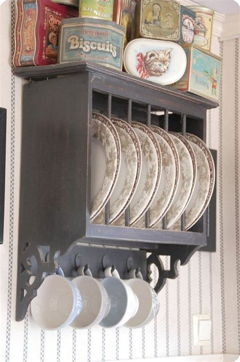 kitchen dish rack ideas antique plate rack design ideas for your vintage kitchen the in