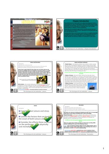 52 revision v1 gcse revision for leisure and recreation by gwhiting7 teaching resources tes