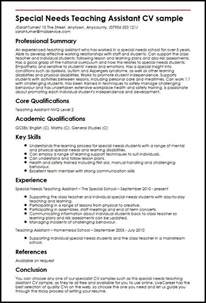 Resume Sles For Special Education Teachers Assistants Special Needs Resume Best Resume Collection
