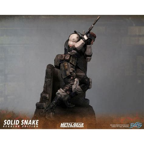 First4figures Mgs Solid Snake Statue Metal Gear Solid Statue Solid Snake 44 Cm